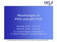 Neuerungen in POS und QIS POS