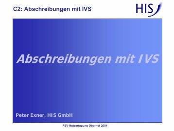 C2 - Richtig schnell: Abschreibungen mit IVS