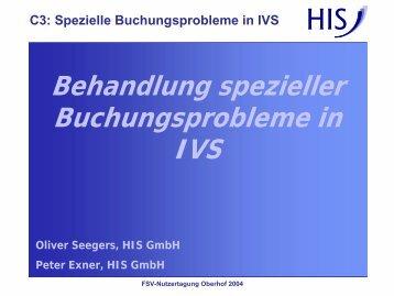 C3 - Behandlung spezieller Buchungsprobleme in IVS