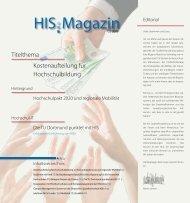 HIS:Magazin 2|2008 - Hochschul-Informations-System GmbH