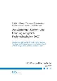 Ausstattungs-, Kosten- und Leistungsvergleich Fachhochschulen 2007