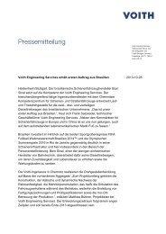 Pressemitteilung - Voith