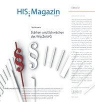 HIS:Magazin 3|2011 - Hochschul-Informations-System GmbH