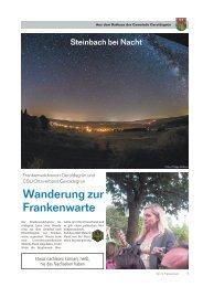 Wir im Frankenwald 33/2013 - Teil 2 - Gemeinde Geroldsgrün