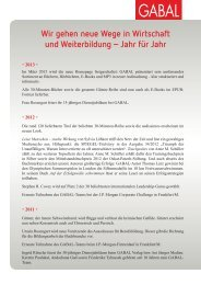 Chronik - GABAL Verlag
