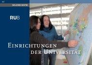 Einrichtungen der Universität - International - Ruhr-Universität Bochum