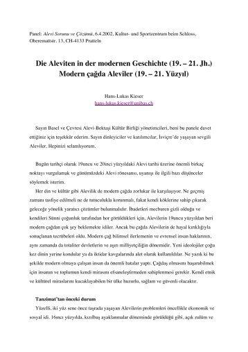 Die Aleviten in der modernen Geschichte (19. – 21. Jh ... - Hist