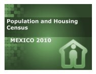 Population and Housing Census MEXICO 2010