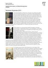 Neuheiten Dezember 2013