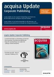 acquisa Update - Corporate Publishing - Mediadaten Haufe Lexware