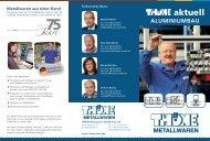 aluminiumbau - Thöne Metallwaren GmbH & Co. KG