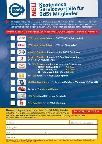 U Kostenlose Servicevorteile für BdSt Mitglieder - BdSt Steuerzahler ...