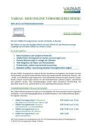 VARIAS - DER ONLINE VORSORGERECHNER! www ... - Wuapaa