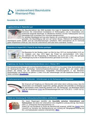 Newsletter Nr. 34/2013 - Landesverband Bauindustrie Rheinland Pfalz