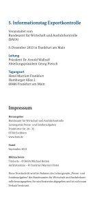 Flyer zum 5. Informationstag Exportkontrolle am 9. Dezember - Bafa - Seite 6