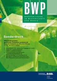 Sonderdruck der BWP zur nationalen Konferenz mit ... - BiBB