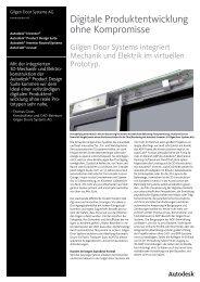 Anwenderbericht Gilgen Door Systems AG - Autodesk