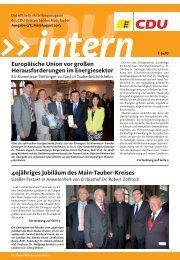 CDU intern Juli / August 2013 (PDF) - CDU Main-Tauber