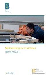 Weiterbildung im Fensterbau - Hochschule für Architektur, Holz und ...