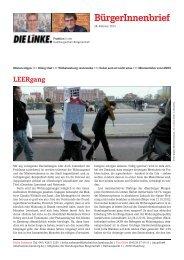 BürgerInnenbrief - DIE LINKE. Bezirksverband Hamburg-Mitte