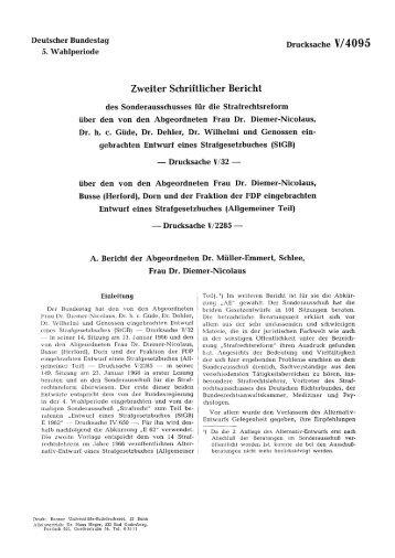 Zweiter Schriftlicher Bericht - bundestag.de - Deutscher Bundestag