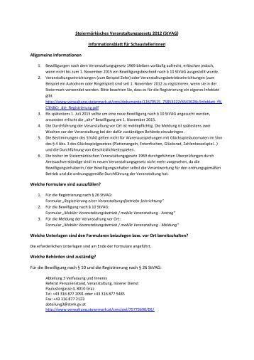 Informationsblatt für SchaustellerInnen - Eisenerz