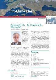 die Bringschuld der Wissenschaft, Pro-Clim Flash ... - Universität Bern
