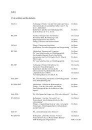 Vorträge - Historisches Institut - Universität Bern