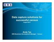 Data capture solutions for p successful census