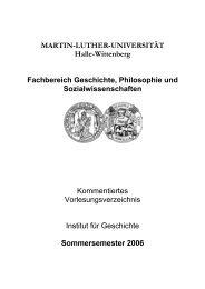 MARTIN-LUTHER-UNIVERSITÄT Halle-Wittenberg Fachbereich ...