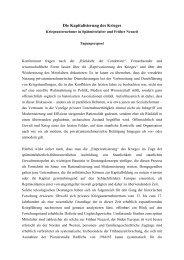 Die Kapitalisierung des Krieges - Histdata.uni-halle.de