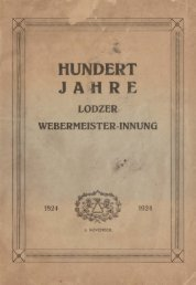 der Lodzer Webermeister ,. Innung