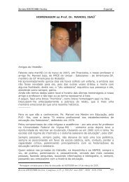 289 HOMENAGEM ao Prof. Dr. MANOEL ISAÚ* - histedbr