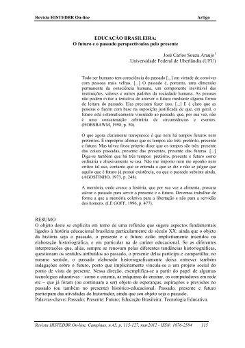 EDUCAÇÃO BRASILEIRA - histedbr - Unicamp