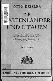 Die Baltenlånder und Litauen : Beiträge zur Geschichte, Kultur und ...