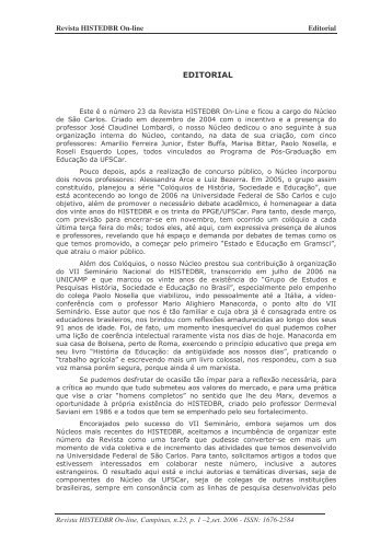 EDITORIAL - histedbr - Unicamp