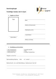 Bewerbungsbogen - Bremer Sportjugend