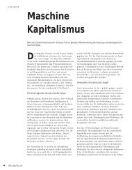Maschine Kapitalismus - Hinterland Magazin
