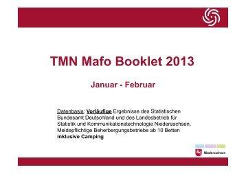 TMN Mafo Booklett Februar 2013 - DEHOGA Niedersachsen