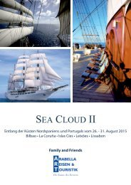 Sea Cloud II Family and Friends Reise - Hapag-Lloyd Reisebüro