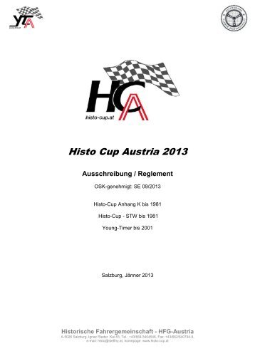 Reglement Histo Cup und Young Timer 2013 - Histo-Cup Austria