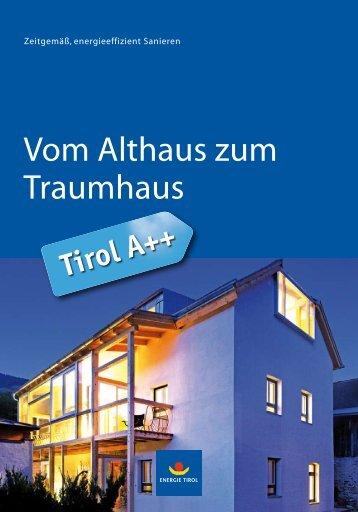 """Download """"Vom Althaus zum Traumhaus"""" - Energie Tirol"""