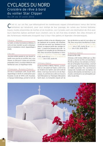 Croisière Cyclades du Nord - Histoire & Voyages