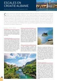 eSCALeS eN CRoATie-ALBANie - Histoire & Voyages