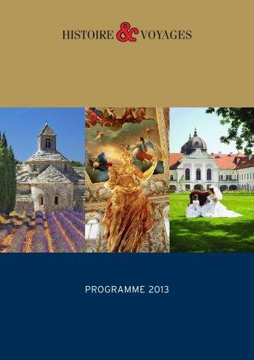 Télécharger la brochure complète - Histoire & Voyages