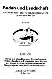 Energie- und Klimaeffizienz von Biogasanlagen mit ...
