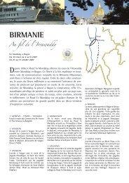 bIrmanIe - Histoire & Voyages