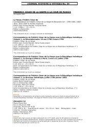 Sélection complète Payot du journal No 54 - Histoire & Voyages