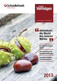 Ausgabe 3/2013 - Schoellerbank
