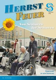 ehrenamt in der stiftung - Seniorenstiftung Prenzlauer Berg